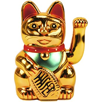 maneki neko winkekatze 13 cm gold. Black Bedroom Furniture Sets. Home Design Ideas