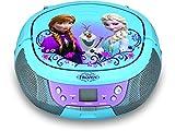 ekids FR-430 Disney Frozen CD-Player mit Mikrofon für Kinder tragbar Anna und ELSA blau Vergleich