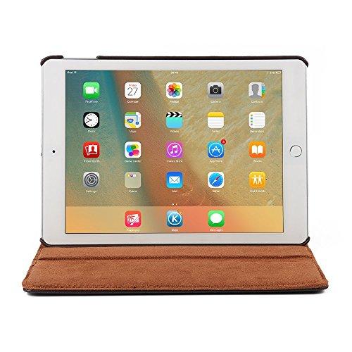 9.7 Zoll Tasche iPad Pro 9.7 , elecfan® hochwertiges PU Leder Etui mit Standfunktion und automatischem Schlaf Funktion, super 360° Anti Wrestling, ist für Apple iPad Pro 9.7 Tablet PC Perfektgeeignet  Braun