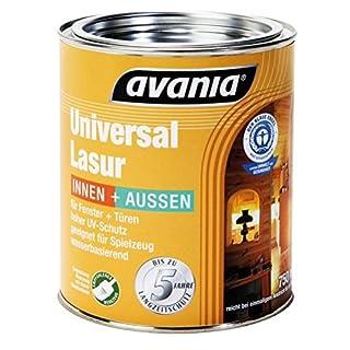 Avania Holzlasur AVANIA Universallasur Farblos 750 ml für aussen und innen auch für Spielzeug geeignet/seidenglänzend/
