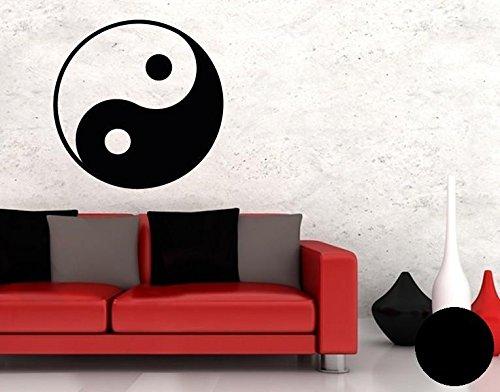 Klebefieber Wandtattoo Yin Yang B x H: 100cm x 100cm Farbe: Schwarz