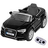 vidaXL Audi A3 Kinderauto Elektroauto Kinderfahrzeug mit Fernbedienung Schawrz