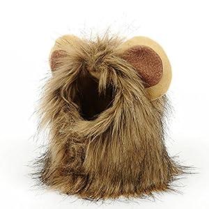 PETCUTE Crinière Lion Perruque pour Chiens Deguisement pour Chien Costume Halloween Chien Lion Crinière Perruque Chien Noel Deguisement