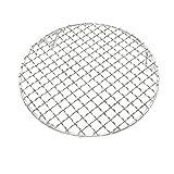 InBlossoms Koreanische Grill-Netze Edelstahl-Grill-Netze Carbon-Grill-Netze Rundes Grill-Netz 304 Rundfuß-Bratnetz30.5cm