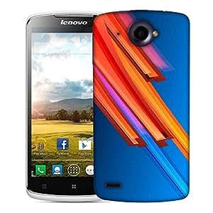 Snoogg Orange And Blue Design Designer Protective Phone Back Case Cover For Lenovo S920