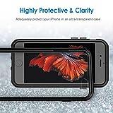 JETech® Apple iPhone 6 6S 4.7″ Hülle Tasche Schutzhülle Case Cover Bumper und Anti-Scratch Löschen Back für iPhone 6s und iPhone 6 (Schwarz) - 5
