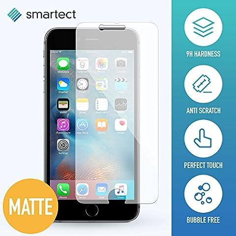 smartect® [MATT] Panzerglas Displayschutzfolie für Apple iPhone 6 / 6s aus gehärtetem Tempered Glass • Gorilla Glass mit Härtegrad 9h • 0,33mm Ultra-Dünn • Abgerundete Kanten (2.5D) • Anti Fingerabdruck