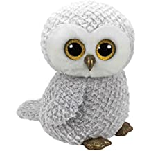 Ty - Beanie Boos Owlette, búho, 40 cm, Color Gris (United Labels