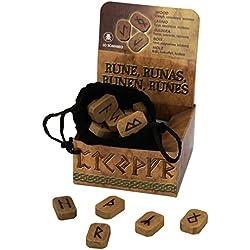 Juego o set de runas en madera