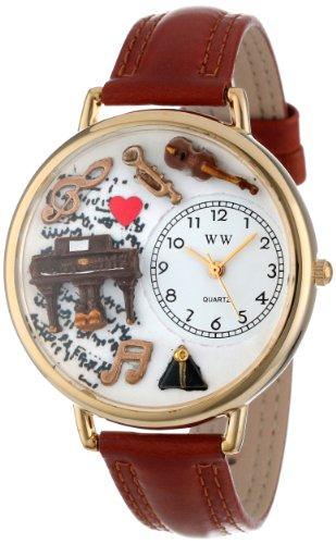 whimsical-watches-unisex-armbanduhr-music-piano-tan-leather-and-goldtone-watch-g0510007-analog-leder