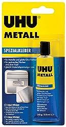 UHU Spezialkleber Metall Tube, Schnellanziehender, tropffreier Kontakt- und Reparaturkleber für Metall, 30 g