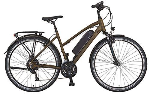 "Prophete ENTDECKER e9.6 Trekking E-Bike 28\"" Damen Elektrofahrrad dunkelbraun matt RH 50 cm"