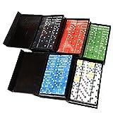 SH-Flying Spielkarte, Farbe Kunststoff Dot Domino Kartensatz Einfach Boxed Fun Spielzeug Lässig Spielkarte Für Familie Reisen, 28 STÜCKE, 48249mm by -