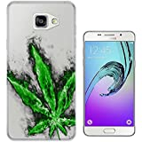c0081 - Marijuana Cannabis Leaf Rasta Style Design Samsung Galaxy A5 -(2016 Modèle) Fashion Trend Protecteur Coque Gel Rubber Silicone protection Case Coque