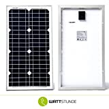 30W WATTSTUNDE MONO SOLAR 30 Watt Solarmodul PV Solarpanel 12V monokristallin