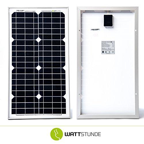 30W WATTSTUNDE® MONO SOLAR 30 Watt Solarmodul PV Solarpanel 12V monokristallin