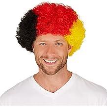 dressforfun Peluca Alemania Afro | Adecuada para aficionados a los eventos y también para fiestas de