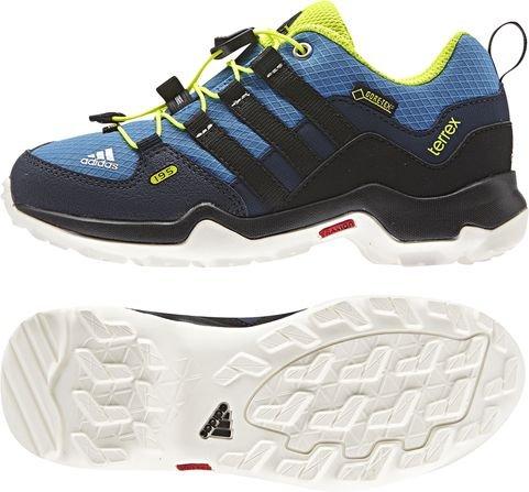 Adidas Terrex GTX K - Zapatillas para niño, Color Azul/Negro/Lima, Talla 28