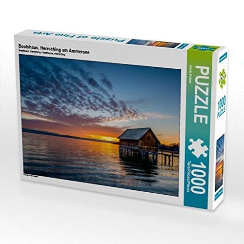 Preisvergleich Produktbild Bootshaus,  Herrsching am Ammersee 1000 Teile Puzzle quer (CALVENDO Natur)