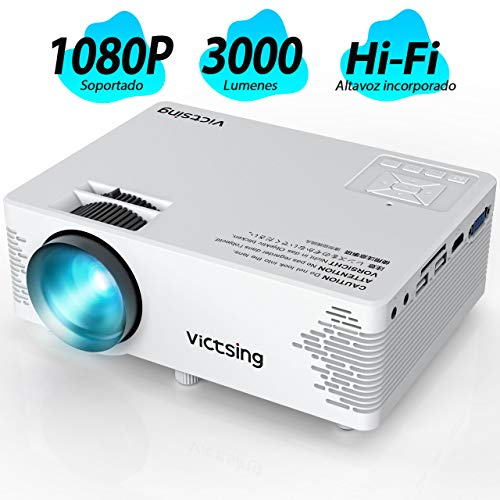 VicTsing Mini Proyector Portatil, Full HD 1080P