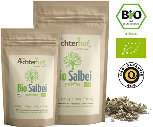 500 Salbei (Salbeitee Bio lose (500g) Salbeiblätter getrocknet Salbei Blätter Tee)