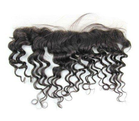 Cheveux Vierges brésiliens 30,5 cm Deep Wave dentelle fermeture/fermeture supérieure (33 x 5,1 cm) couleur naturelle 120% Densité