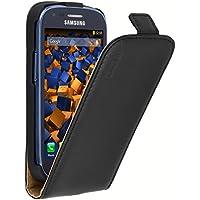 mumbi Etui à rabat en cuir pour Samsung Galaxy S3 Mini Noir