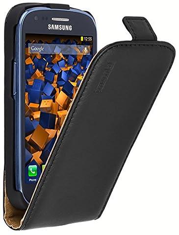 mumbi PREMIUM Leder Flip Case Samsung Galaxy S3 mini