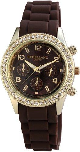 Excellanc Damen-Armbanduhr Analog Quarz Kautschuk 225441500007