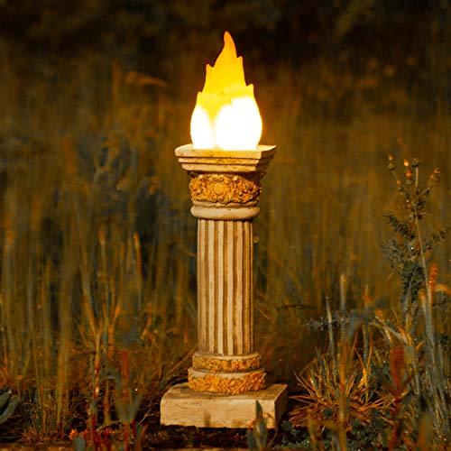 Garden mile® - Estatua jardín Efecto Llama olímpica
