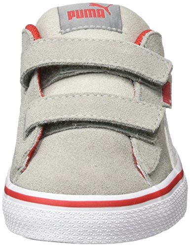 Puma Unisex-Kinder 1948 Vulc V Ps Low-Top Grau (Limestone-puma white-high risk red 06)