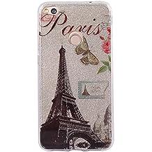 heban lujo Bling Bling Glitter Sparkle–Funda a prueba de golpes brillante moda estilo carcasa trasera para Huawei P8Lite 2017liberación–Torre Eiffel de París