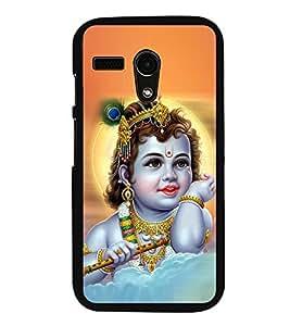 PrintVisa Little Krishna High Gloss Designer Back Case Cover for Moto G3 Turbo Edition