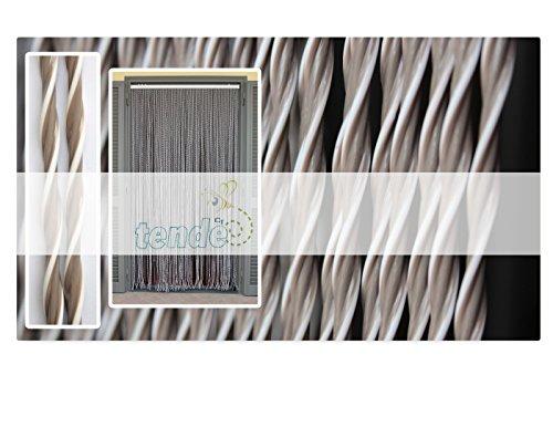 Tenda/moschiera pvc –modello capri - asta in alluminio - made in italy - misure standard (90x200/100x220/120x230/130x240/150x250) - (100x220, sabbia n.10)
