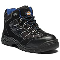 Dickies FA23385A BK 9 Super Safety Hiker, Suede and Mesh, 9 Size, Black