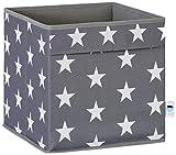 STORE.IT 670964 offene Ordnungsbox mit seitlichen Eingriffen, aus reißfestem Polyester, 30x30x30cm, grau