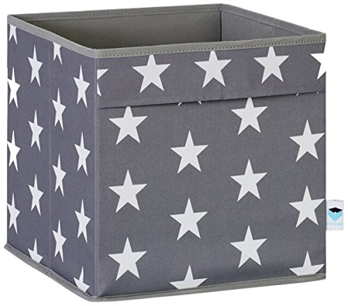 STORE.IT 670964 offene Ordnungsbox mit seitlichen Eingriffen, aus reißfestem Polyester, 30x30x30cm, grau (Für Kind Das Store)