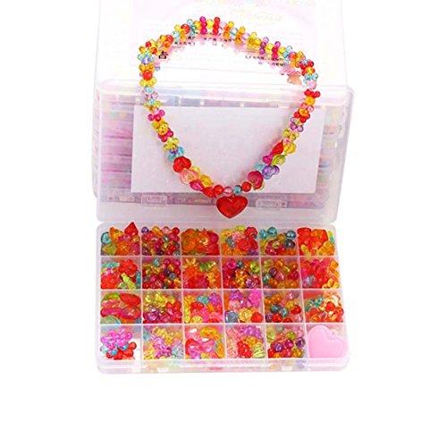 Alien Storehouse DIY Perlen Set Halskette Armband Schmuck machen Handwerk Kits für Kinder - ca. 380 Perlen - 14