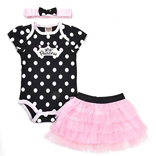 ZOEREA 3PCS Vestidos Bebé Niñas Tutu Falda diadema Body Vestido Set para Fotografía Prop