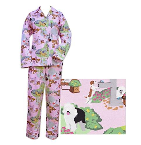Der Katze Schlafanzüge Pink Hunde Day Out Damen Flanell Pyjama Gr. Large, rose (Lg Flanell)