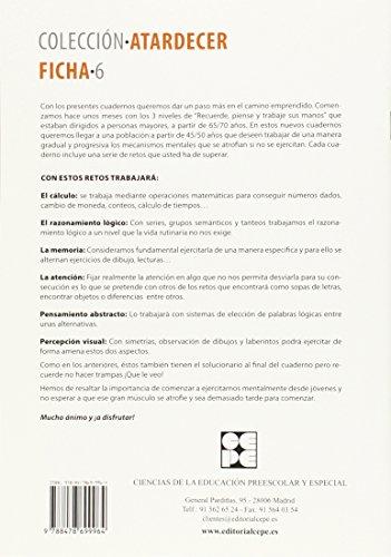 Cuaderno De Trabajo Para Personas Mayores (Atardecer)