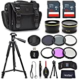Premium 52mm Accessories Bundle Kit For Nikon D7500 D5600 D3400 D750 D3300 D3200 D5500 D5300 D5200 D5100 D5000 D7200 D7100 D7000 D610 D600 Includes 64GB Memory
