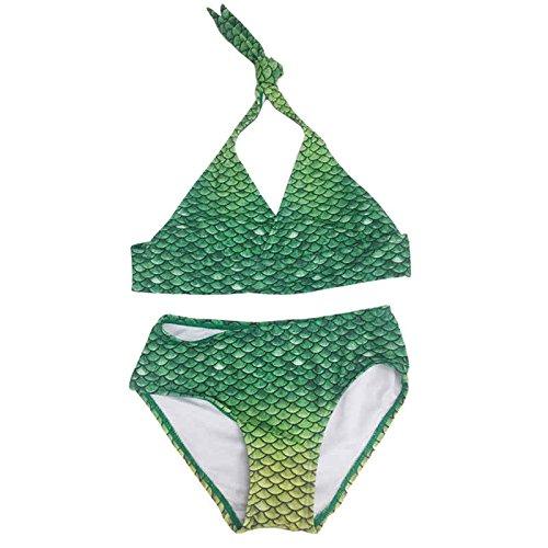 SUN TAILS Meerjungfrauen Bikini Lime Rickey Set für Kleinkinder, Kinder und Erwachsene L