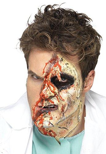 Smiffy's 46227 - Horror Zombie Make-Up Set, 4 Liquid Latex Töpfe und 4 Schaum Pinsel, (Latex Up Make Schaum)