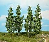 Heki 1719 Pappelbäume, 4 Stück, Höhe 14 cm, Mehrfarbig