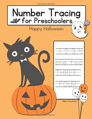Number Tracing for Preschoolers: Happy Halloween