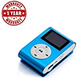 Supreno True Sound Mini Clip Metal Mp3 Player With LCD Screen + Micro / TF Slot And FM Support Freat For Sports, Gymming And Jogging (1 Year Warranty, Assorted Colour)