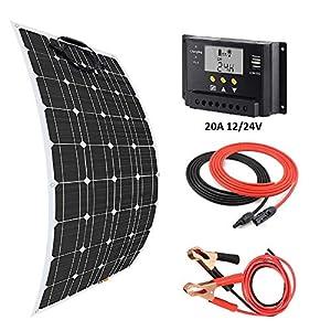 yates 20 metros: Giosolar - Kit de Cargador de Panel Solar Flexible de 100 W + Controlador Solar ...