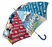 """Pratico e comodo ombrello che raffigura il personaggio di Topolino. L'ombrello ideale per le uscite di casa durante le giornate di pioggia, le sue dimensioni lo rendono alquanto pratico. La sua struttura è formata da un manico a forma di """"U"""" ..."""