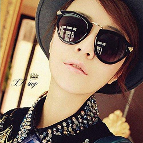 HuaYang Unisex Mode Retro-Stil Pilot Sonnenbrillen Brillen Schatten Schutzbrillen (Schwarz)